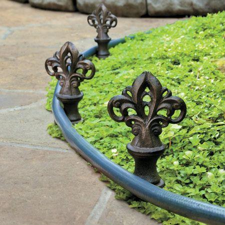 Rotating Cast Iron Hose Guides Set Of 3 Garden Deco Decorative Garden Stakes Metal Pergola