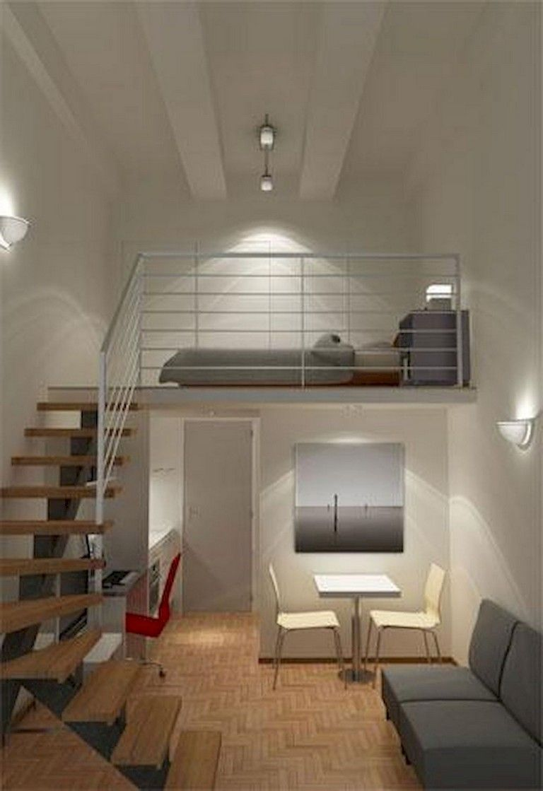 50 Wonderful Loft Stairs For Tiny Apartment Decorating Ideas Tiny Apartment Decorating Tiny Apartment Small Apartment Design