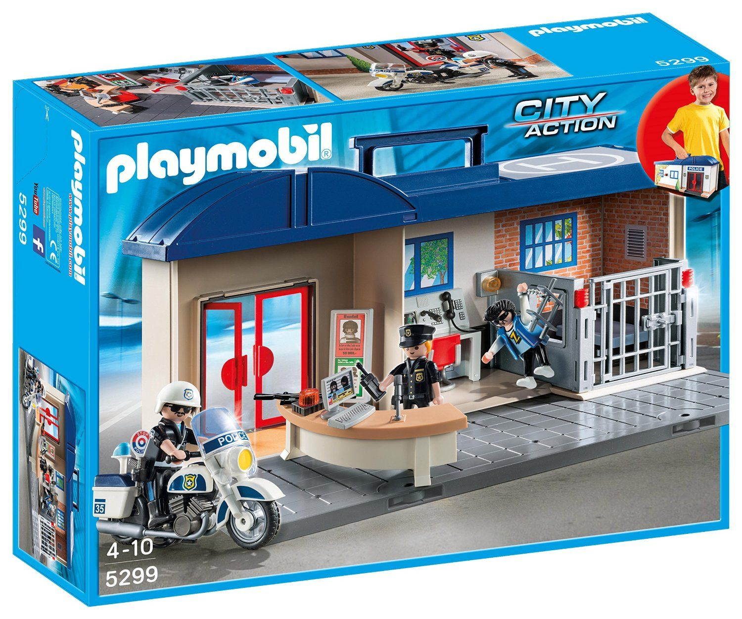 Playmobil 5299 City Action Take Along Police Station Amazoncouk