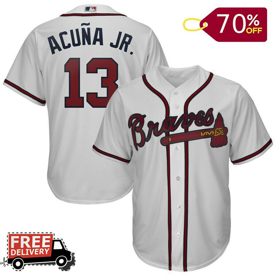 Men S Atlanta Braves Ronald Acuna Jr White 2019 Home Official Jersey Atlantabraves Atlanta Braves Mens Jersey Shirts