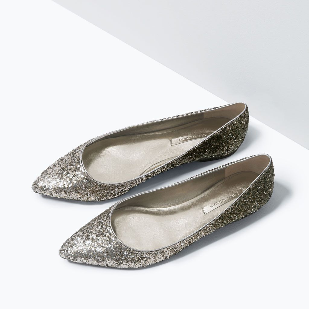 GLITTER POINTED BALLET FLATS-Flats-Shoes-Woman-COLLECTION SS15 | ZARA United