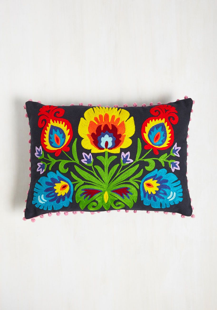 Color Me ModCloth Clothes and Decor - Grow and Steady Pillow