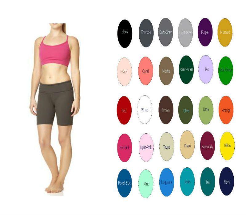 USA Cotton Spandex Capri Length Yoga Pants Wide Leg Fold Over Waist Colorful