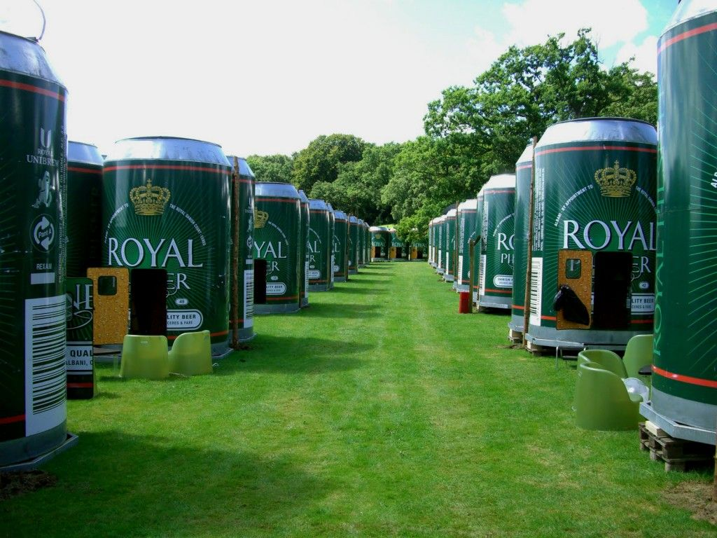Beer can hotel in Denmark during a music festival. Click the photo for other cool hotels.