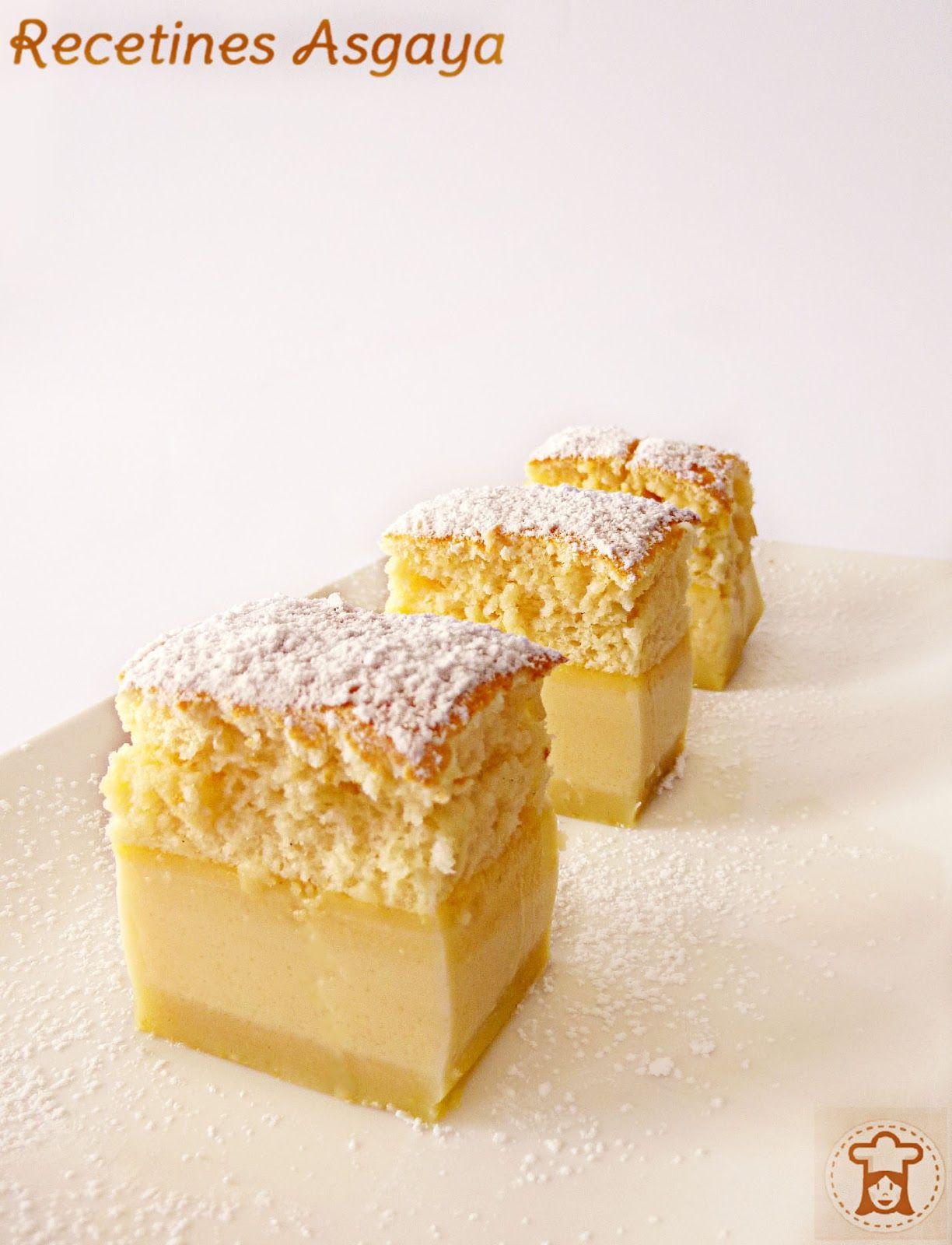 Intelligent Cake / Pastel Inteligente _ Recetines Asgaya