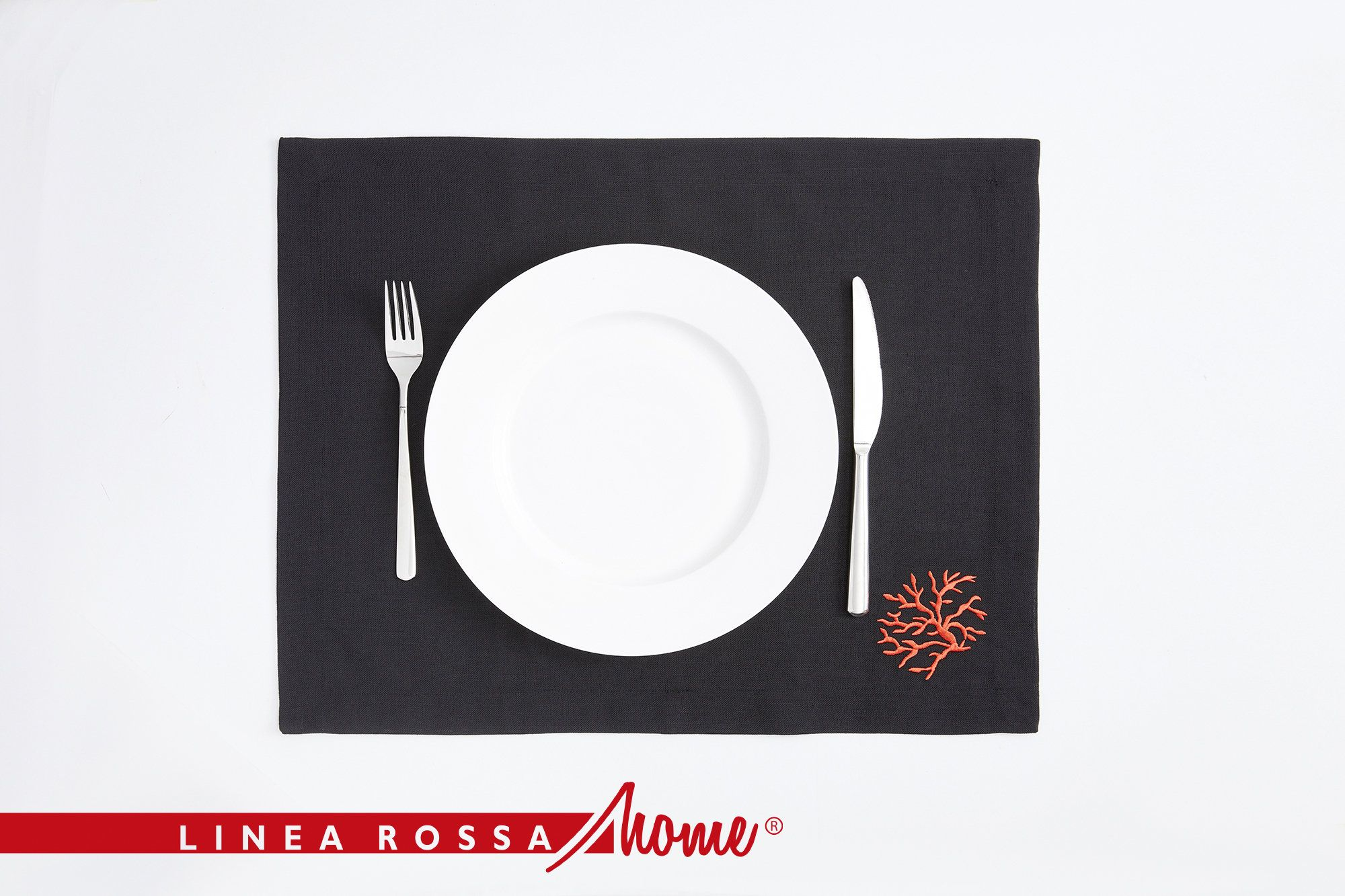 Red Coral Placemats Black Fabric Set Table Linens Black Placemats Red Placemats Rectangle Placemats Kitchen Black Placemats Linen Placemats Grey Placemats