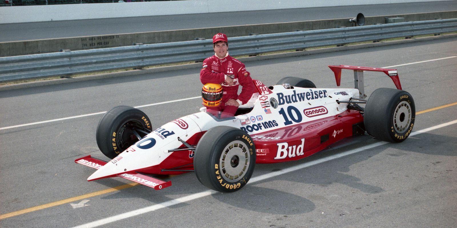 A J FOYT 1991 LOLA CHEVROLET INDY 500 AUTO RACING 8X10 PHOTO #2