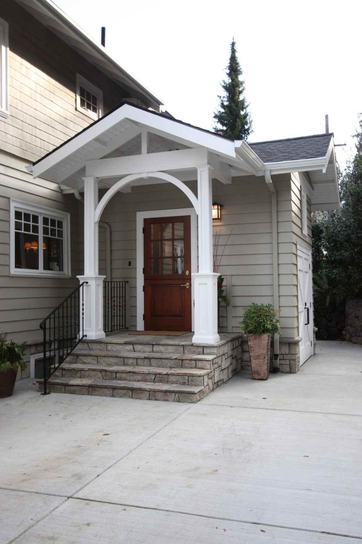 Exterior Of Mudroom Addition In Portland Oregon House With Porch House Entrance House Front