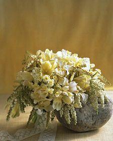 as flores e a pedra