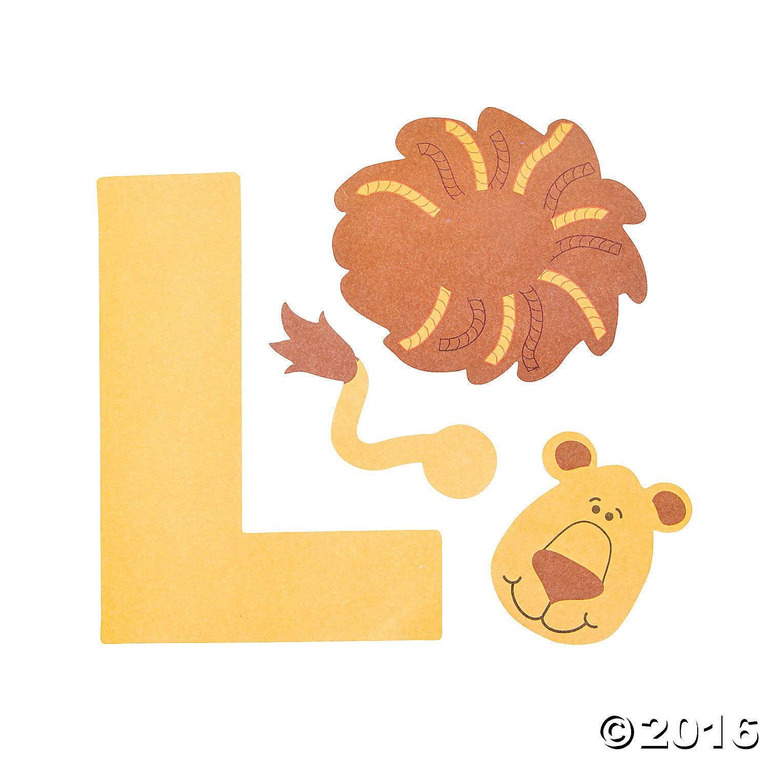 L Is For Lions Letter L Craft Kit 48 A01
