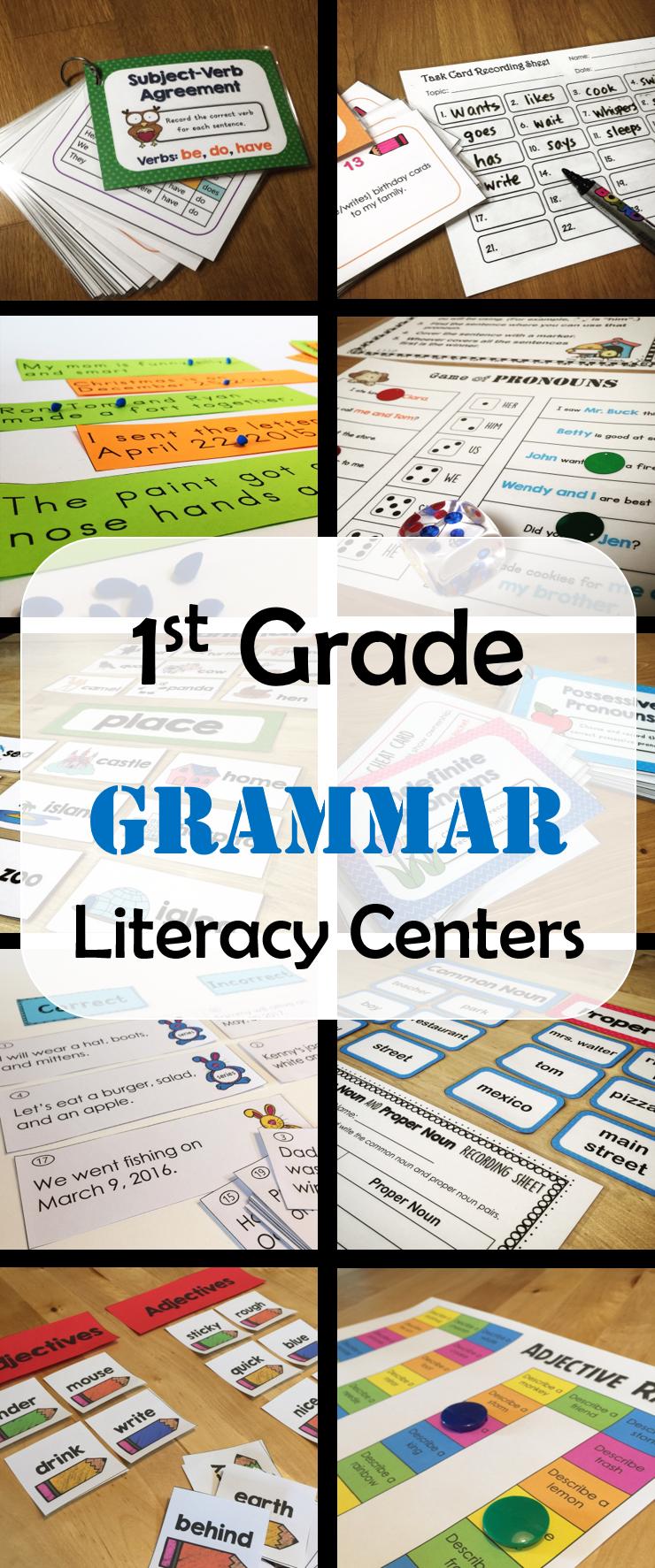 First Grade Literacy Activities HUGE BUNDLE | First grade ...
