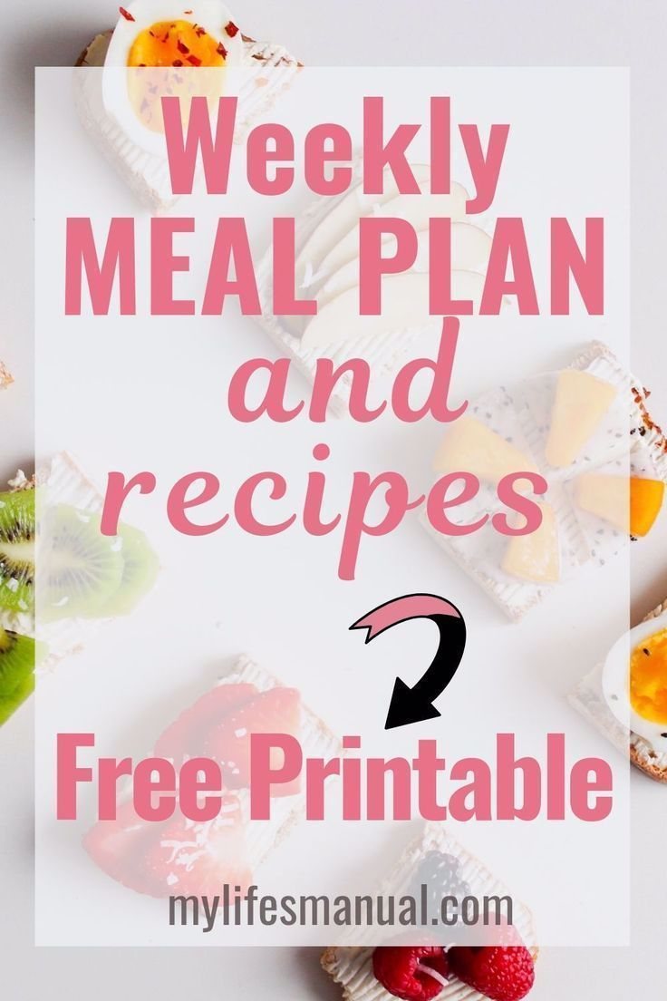 Free Weekly Meal Planner with a Grocery List Instant Pot Recipes and a Simple M