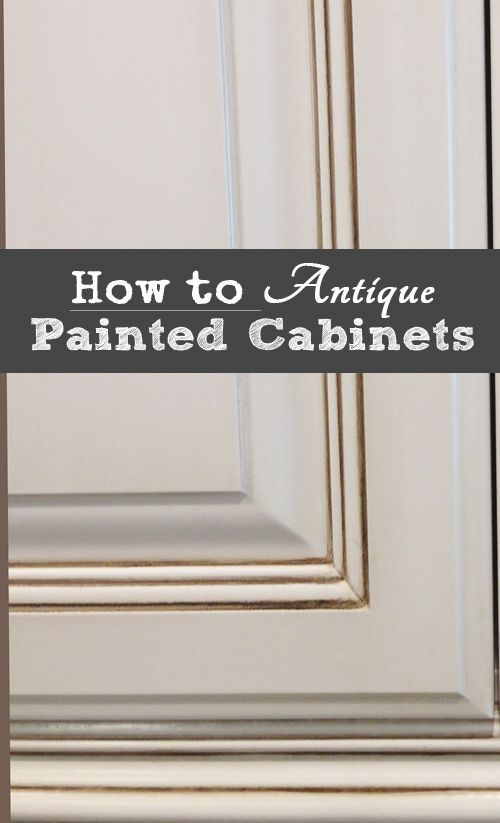 Here are the basic steps to antiquing painted kitchen cabinets. To read the tutorial - view the slideshow below