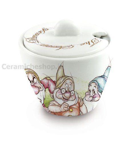 Small Egan Zuccheriera Porcellana Avorio