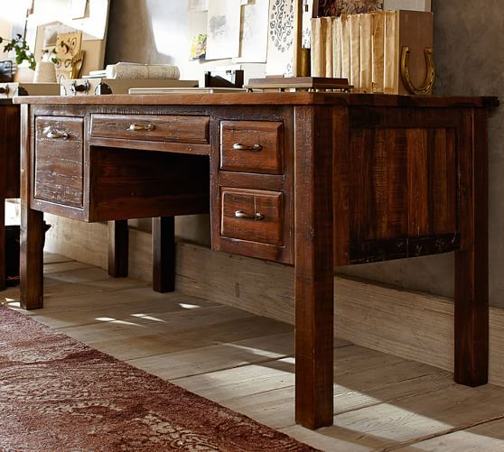 Pottery barn   Bowry Reclaimed Wood Desk. Bowry Reclaimed Wood Desk   Home Office   Organization   Pinterest