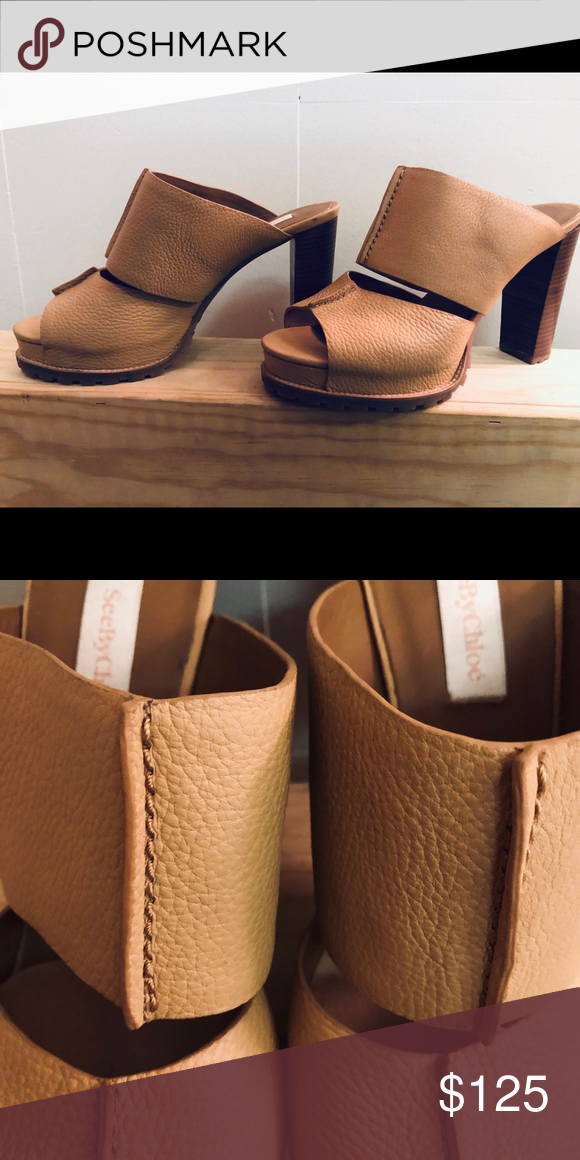 See by Chloe Heels Authentic. Worn once. Stylish. All leather. See By Chloe Shoes Mules & Clogs #seebychloe See by Chloe Heels Authentic. Worn once. Stylish. All leather. See By Chloe Shoes Mules & Clogs #seebychloe