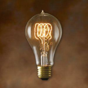 Bulbrite Industries A23 Incandescent Nostalgic Edison Bulb Set Of