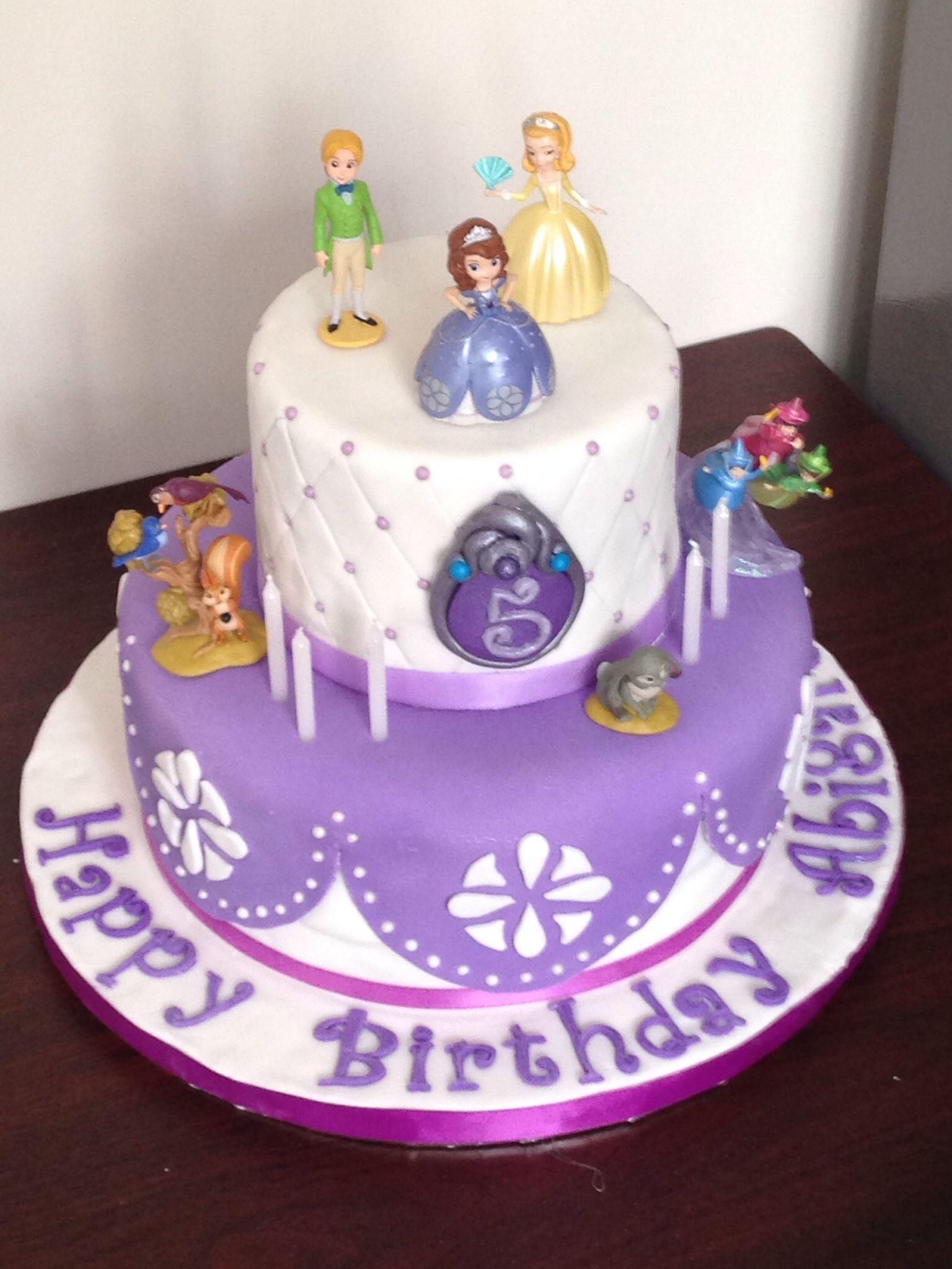 Sofia The First Birthday Cake Ideas Cumple Luci 2015 Pinterest