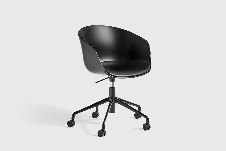 Bureaustoel zwart met zitkussen bureaustoelen