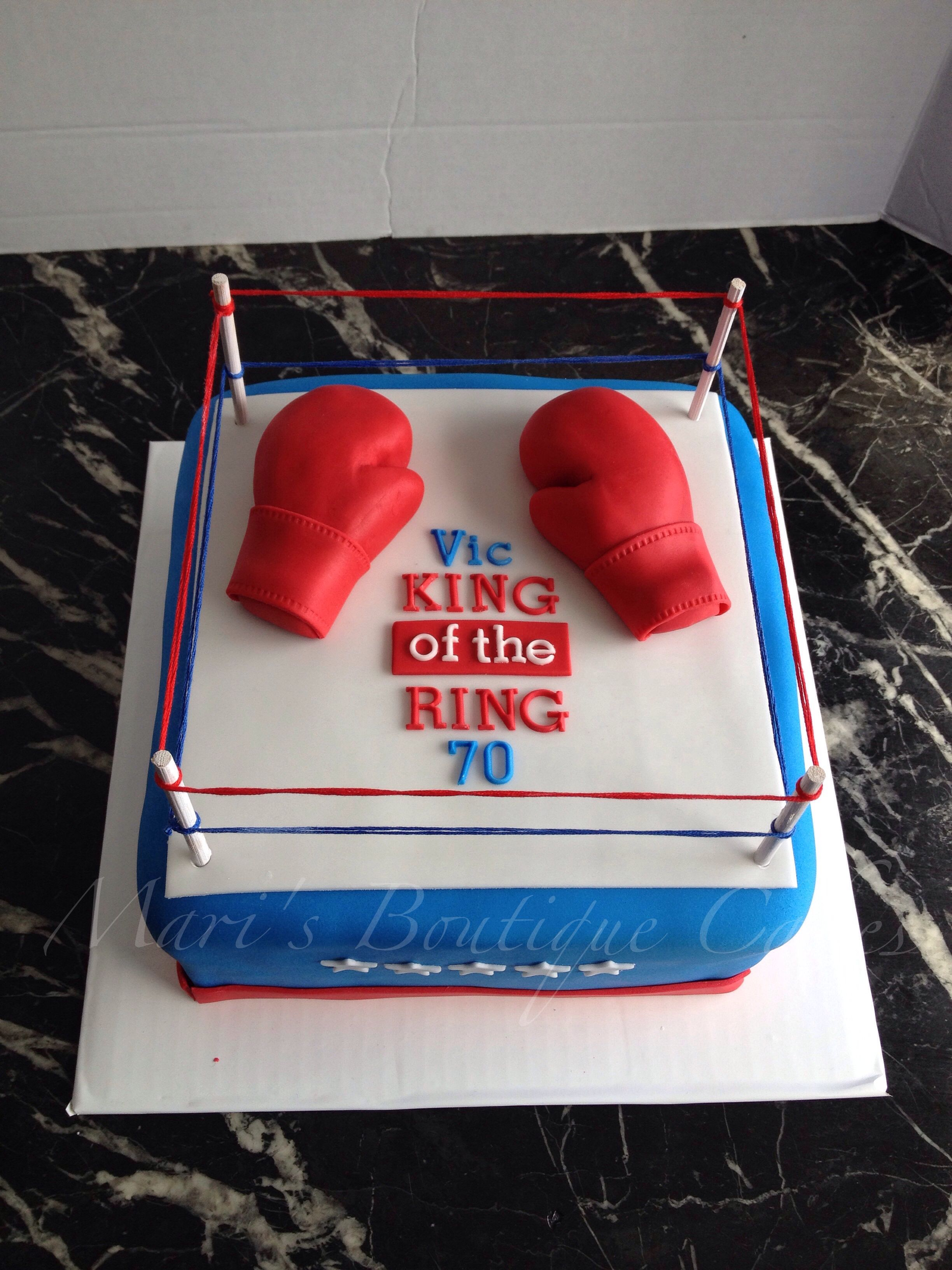 Boxing ring cake by maris boutique cakes my birthday