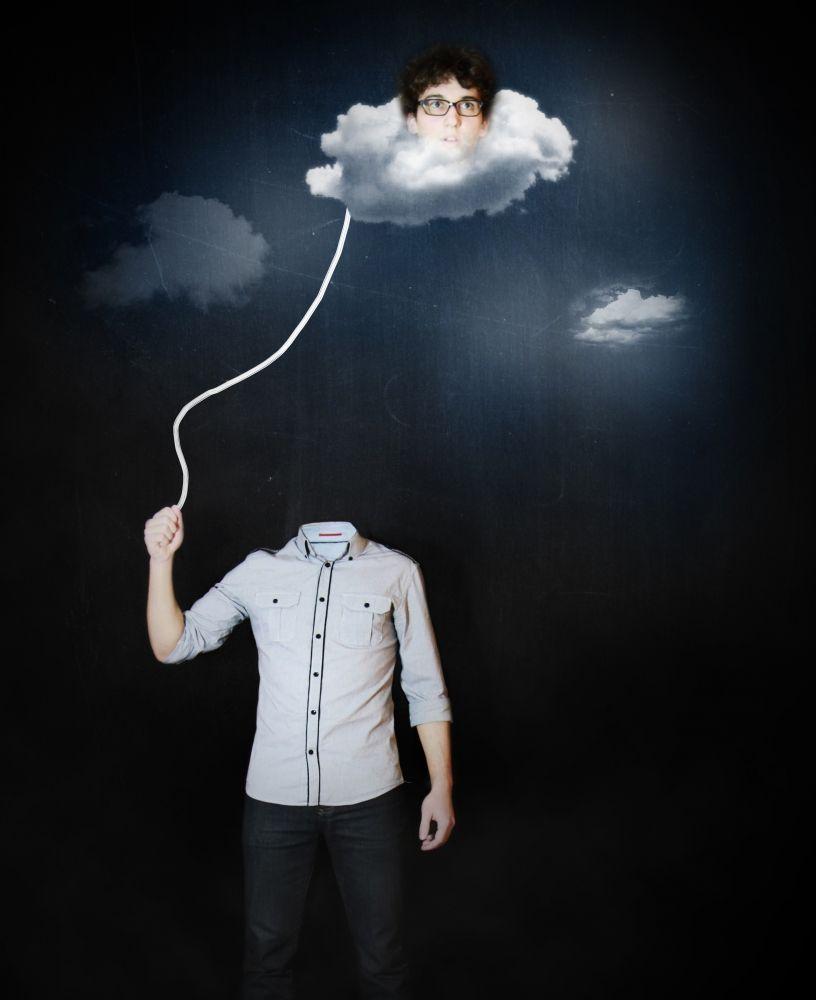 La Tete Dans Les Nuage : nuage, NUAGES, CLOUDS), Moïcani, L'Odéonie, Tête, Nuages,, Nuage,