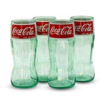 7 in. Coca-Cola Classic Glasses - Set of 4