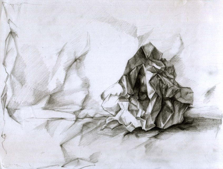 crumpled paper line drawing | f(art) | Pinterest | Drawings, Paper ...