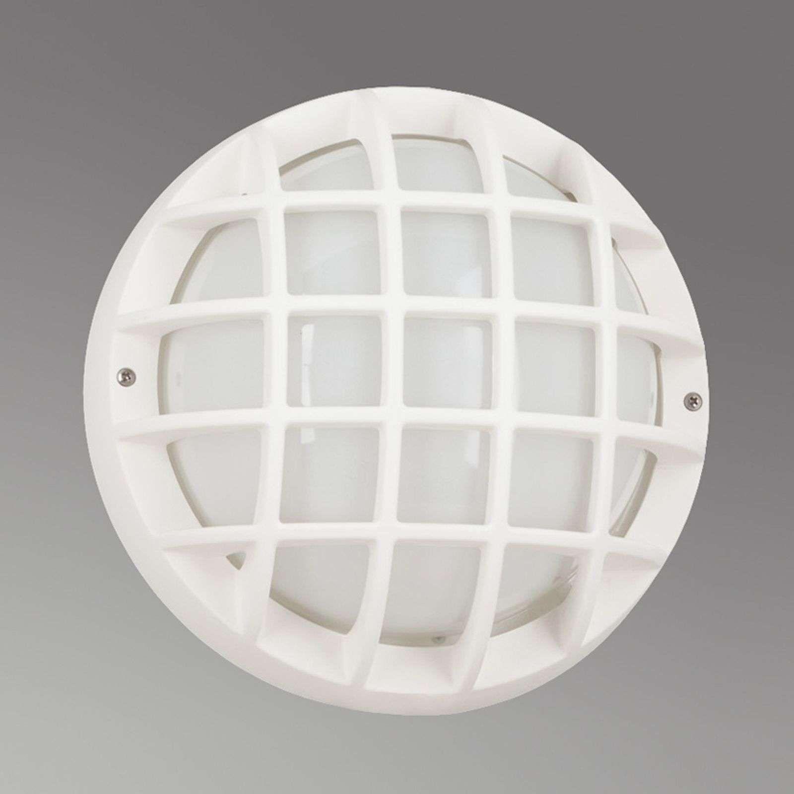 Aussenwandleuchte Eko 21 G Ip44 Weiss Plafonnier Formes Simples Blanc