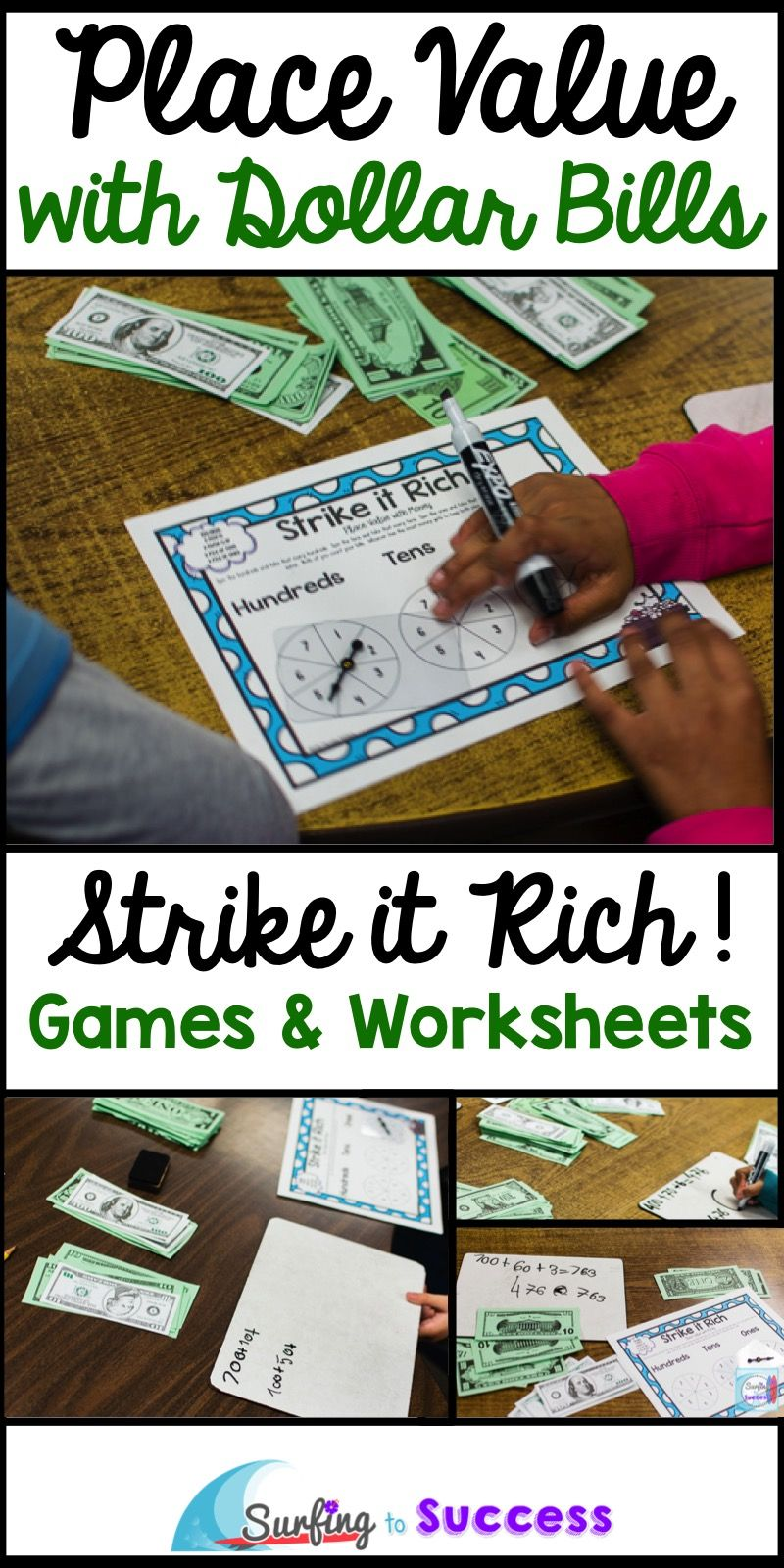 place value game with dollar bills math place value games place values kindergarten math games. Black Bedroom Furniture Sets. Home Design Ideas