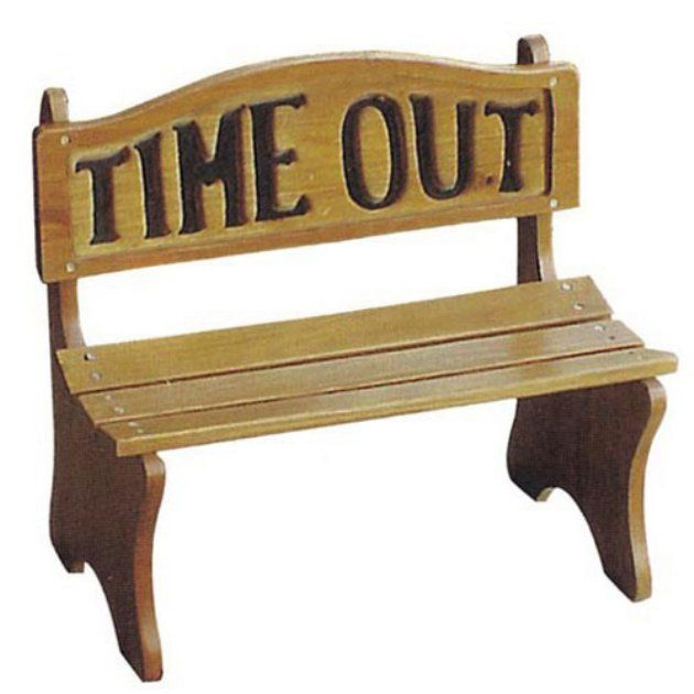 Encourage Good Behavior With The Time Out Bench Create