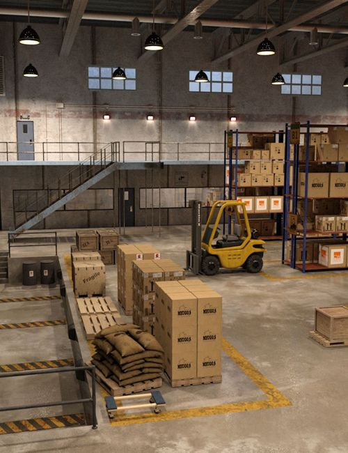 Model I13 Warehouse And Office Free