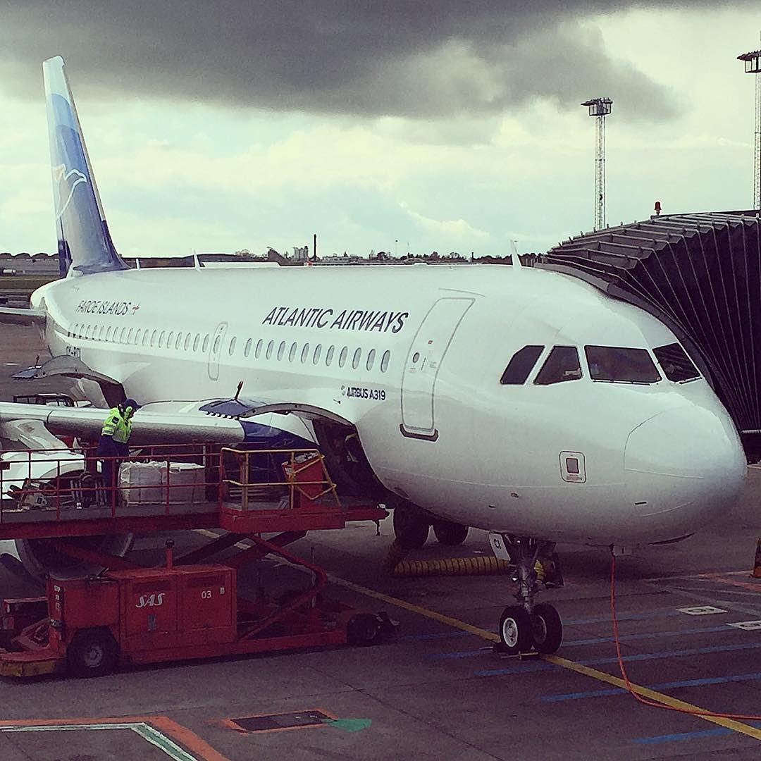 My plane! Look at those clouds  #atlanticairways #plane #faroeislands #airport by maldur