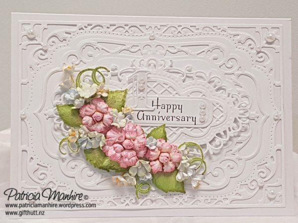 Happy Anniversary Patricia S Creative Corner Homemade Wedding Cards Happy Anniversary Happy Anniversary Cards