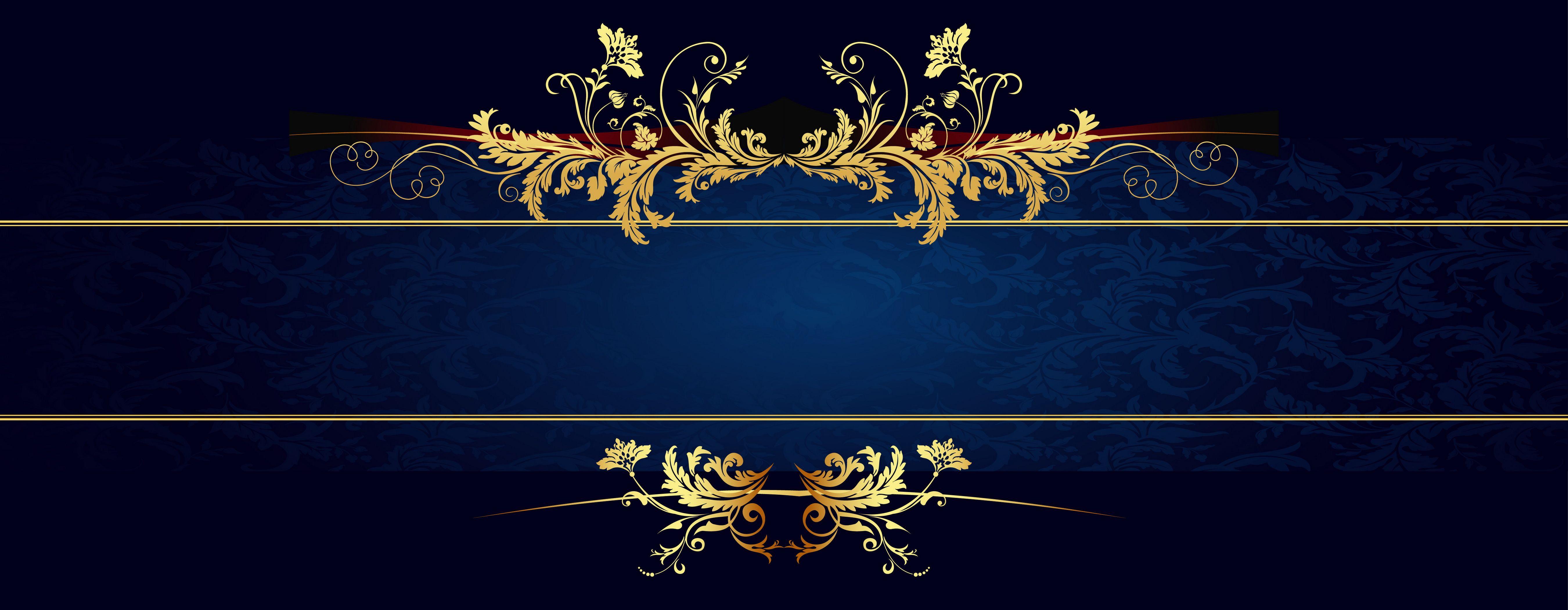 Euporean Pattern Frame Border Design Royal Frame Black Background Wallpaper