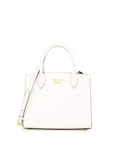 cf8ef1903352 PRADA Saffiano Leather City Tote Bag, White/Black. #prada #bags #shoulder  bags #hand bags #leather #tote #