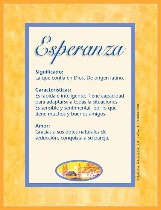 Esperanza Imagen De Esperanza Nombres Significado Names Baby