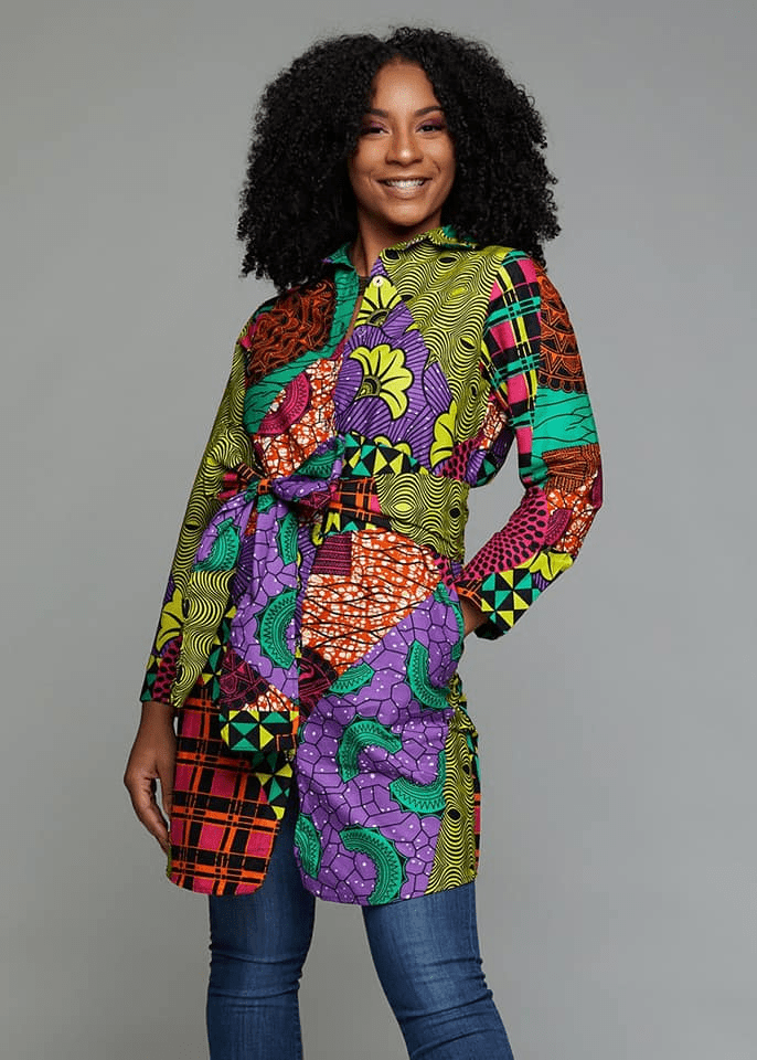 80d79160911 Glamorous Ankara Styles For The Year 2019 Button Up Dress
