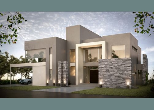 Fachadas de piedra modernas buscar con google casas de for Casa minimalista 2018