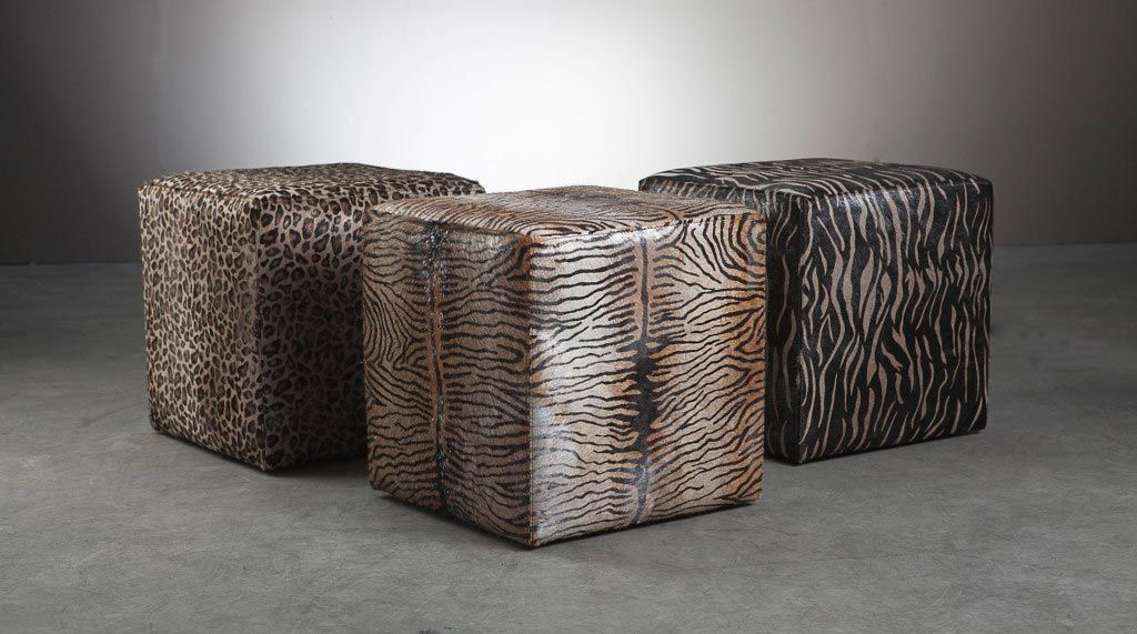 Miraculous Animal Print Cube Poufs Found At Paoandefe Com Ottomans Dailytribune Chair Design For Home Dailytribuneorg