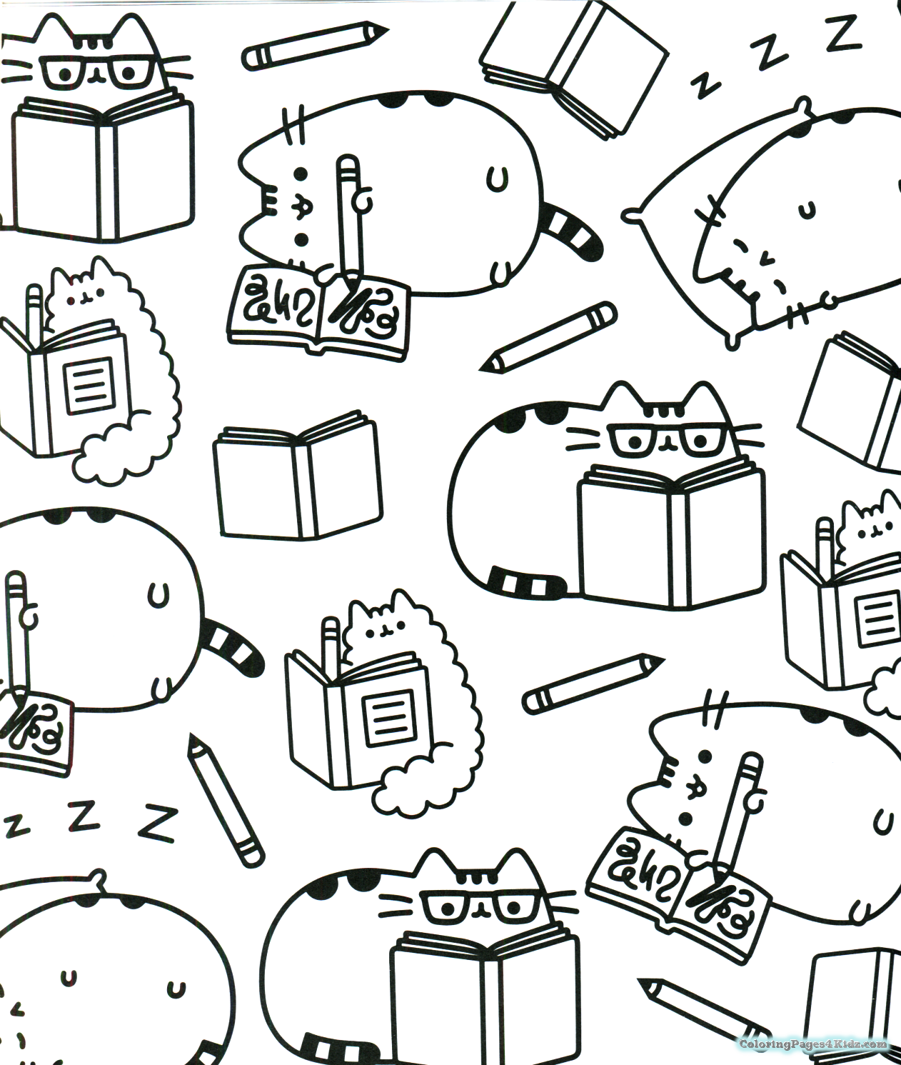 Pusheen Coloring Pages Pusheen Coloring Pages Cute Coloring