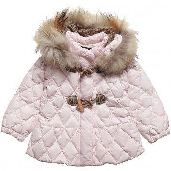 5f1137d26 Fendi Baby Girls Pink Down Padded Jacket at Childrensalon.com ...