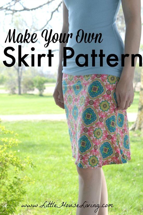 Make Your Own Skirt Pattern | Pinterest | Rock nähen, Rock und ...