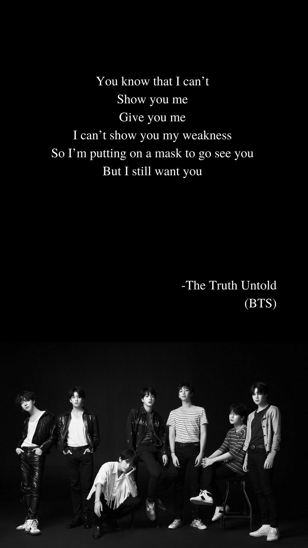 The Truth Untold By Bts Lyrics Wallpaper Positive Wall