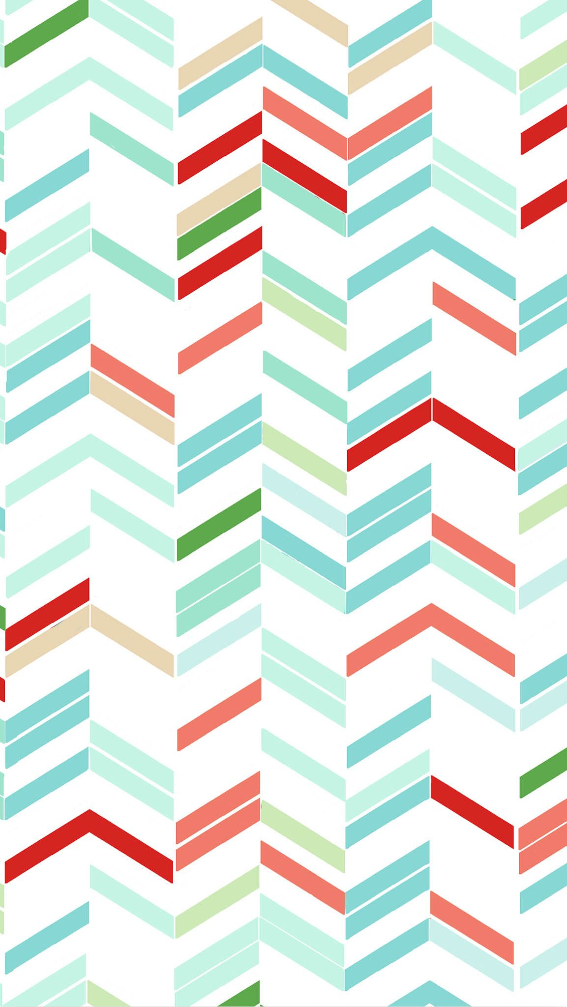 iPhone wallpaper blue green red white chevron lines