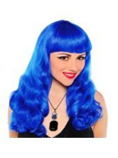 Electric Blue Wig Party City Partycity And Halloween Wig Party Blue Wig Wigs