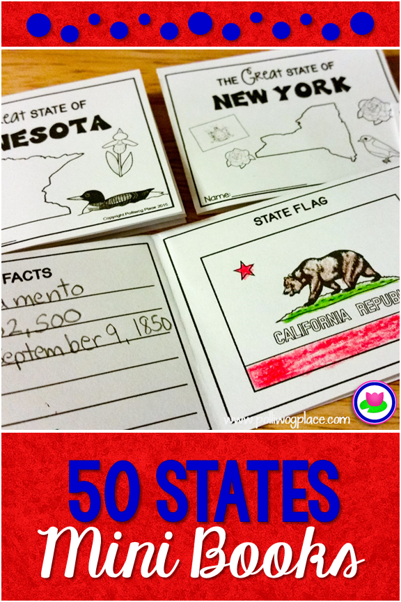 50 States Folded Mini Books Fun And Engaging Teaching Resources