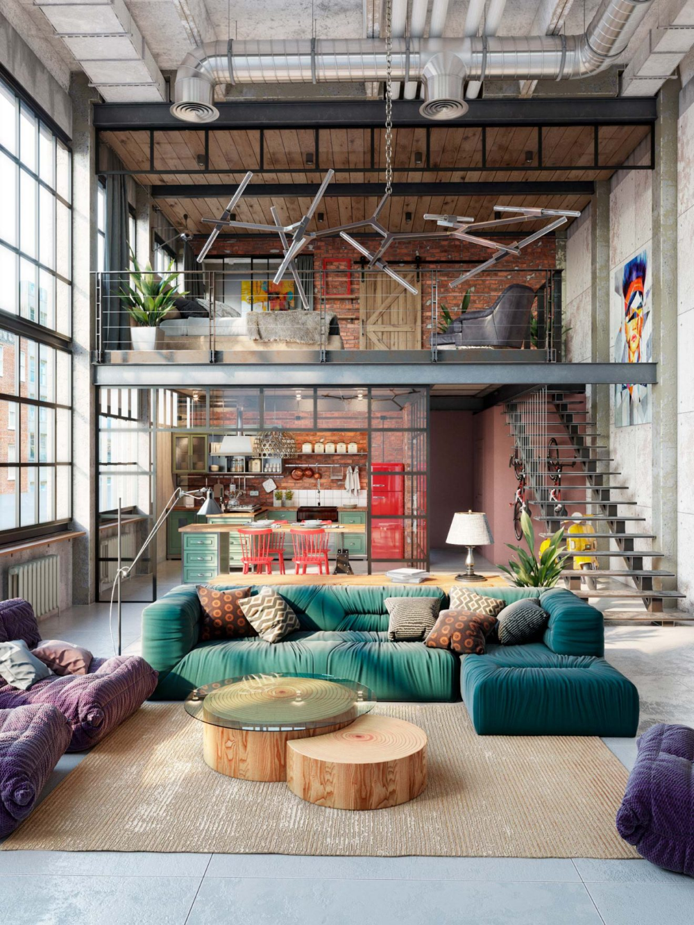 Photo of 52 lofts industriels créés avec un logiciel de 3D