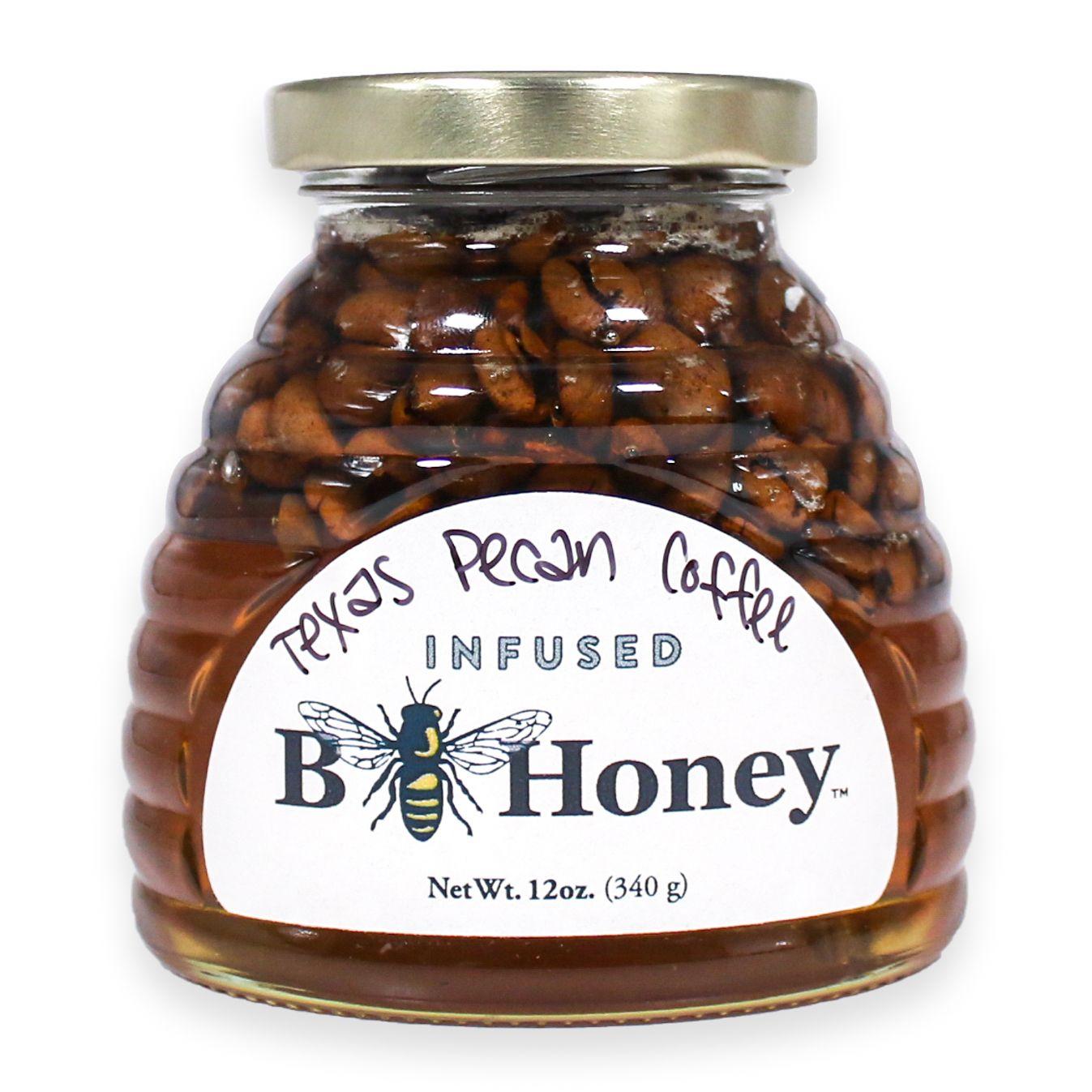 Beeweaver texas pecan coffee infused honey texas pecans