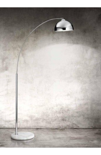 Lampada da terra ad arco in metallo cromato | lampade | Pinterest