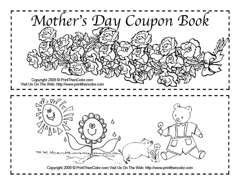 cute mothers day printable cards | Mother\'s Day Coloring Pages for ...